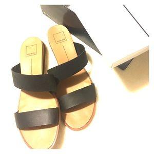 Dolce Vita Black Stella Wedge Sandal